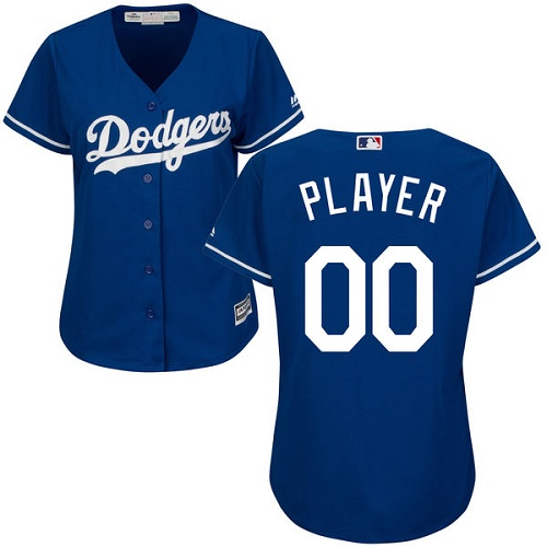 Women's Majestic Los Angeles Dodgers Customized Authentic Royal Blue Alternate Cool Base MLB Jersey