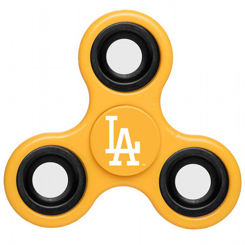 MLB Los Angeles Dodgers 3 Way Fidget Spinner D35 - Yellow