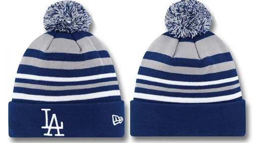 MLB Los Angeles Dodgers Stitched Knit Beanies 016