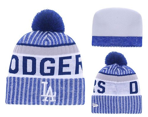 MLB Los Angeles Dodgers Stitched Knit Beanies 017