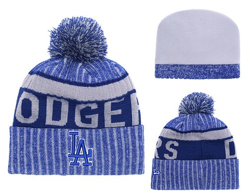 MLB Los Angeles Dodgers Stitched Knit Beanies 019