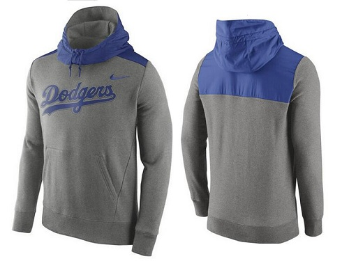 MLB Men's Los Angeles Dodgers Nike Gray Hybrid Hoodie