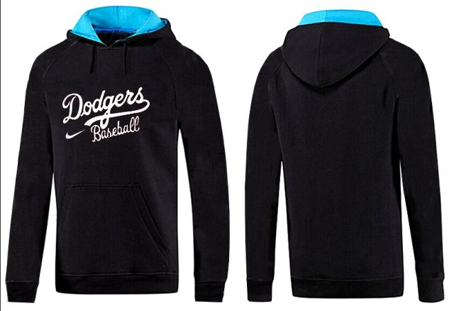MLB Men's Nike Los Angeles Dodgers Pullover Hoodie - Black/Blue