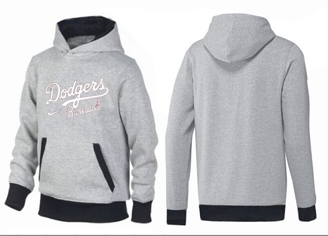MLB Men's Nike Los Angeles Dodgers Pullover Hoodie - Grey/Black