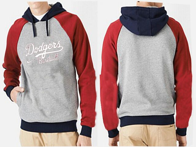 MLB Men's Nike Los Angeles Dodgers Pullover Hoodie - Grey/Red