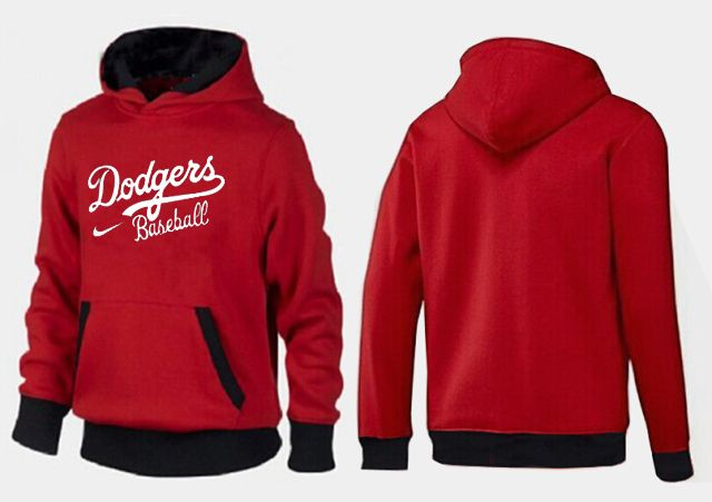 MLB Men's Nike Los Angeles Dodgers Pullover Hoodie - Red/Black