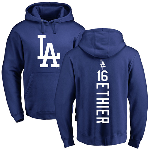 MLB Nike Los Angeles Dodgers #16 Andre Ethier Royal Blue Backer Pullover Hoodie