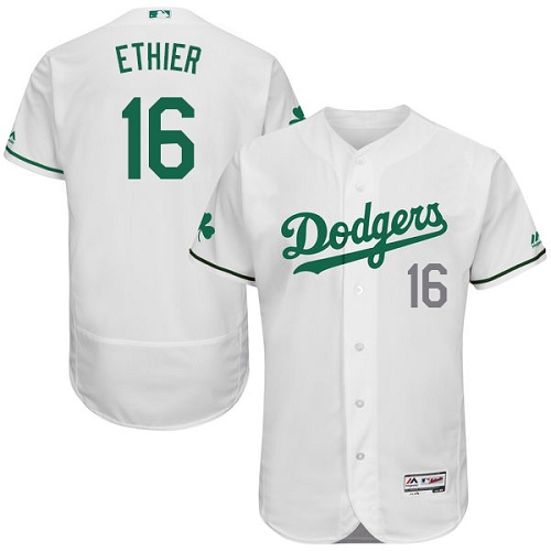 Men's Majestic Los Angeles Dodgers #16 Andre Ethier White Celtic Flexbase Authentic Collection MLB Jersey