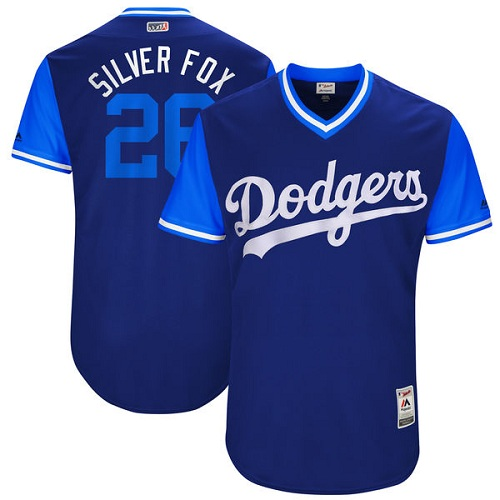 Men's Majestic Los Angeles Dodgers #26 Chase Utley