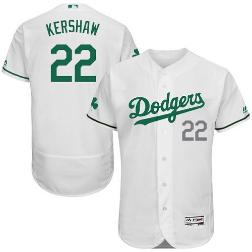 Men's Majestic Los Angeles Dodgers #22 Clayton Kershaw White Celtic Flexbase Authentic Collection MLB Jersey