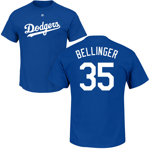 MLB Nike Los Angeles Dodgers #35 Cody Bellinger Royal Blue Name & Number T-Shirt