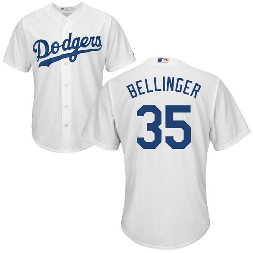 Men's Majestic Los Angeles Dodgers #35 Cody Bellinger Replica White Home Cool Base MLB Jersey