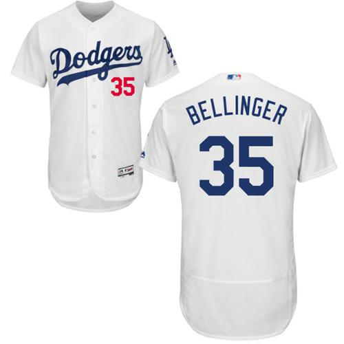 Men's Majestic Los Angeles Dodgers #35 Cody Bellinger White Flexbase Authentic Collection MLB Jersey
