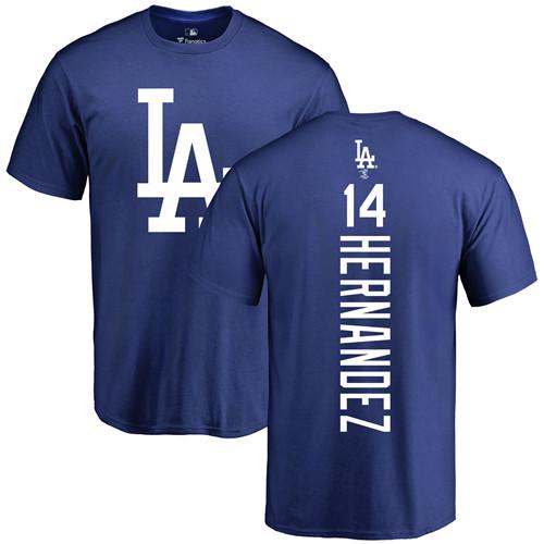 MLB Nike Los Angeles Dodgers #14 Enrique Hernandez Royal Blue Backer T-Shirt