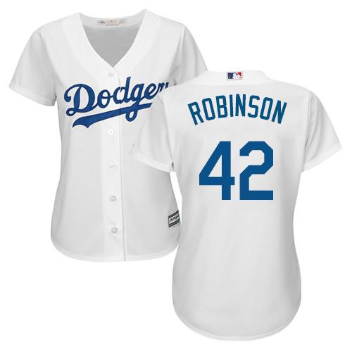 pretty nice 05a40 50c5d Women's Majestic Los Angeles Dodgers #42 Jackie Robinson ...