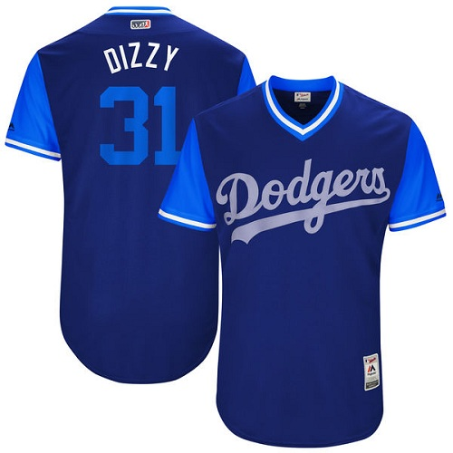 Men's Majestic Los Angeles Dodgers #31 Joc Pederson