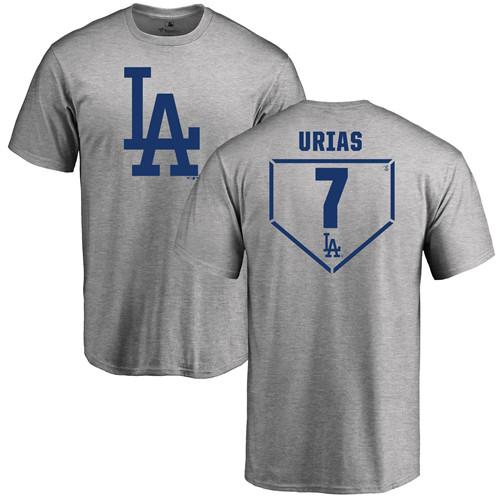 MLB Nike Los Angeles Dodgers #7 Julio Urias Gray RBI T-Shirt