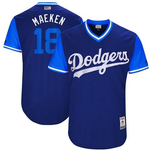 Men's Majestic Los Angeles Dodgers #18 Kenta Maeda