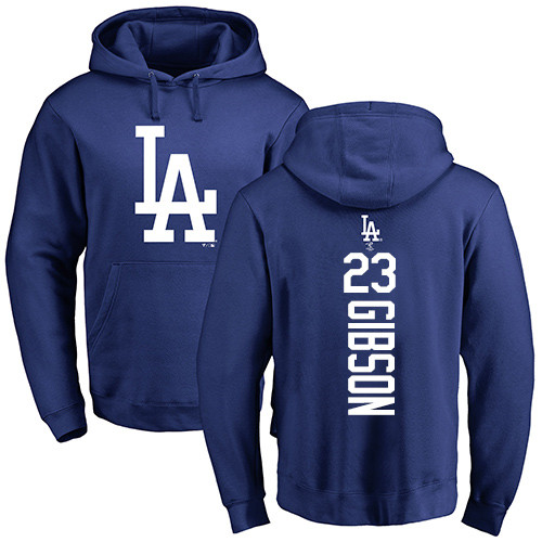 MLB Nike Los Angeles Dodgers #23 Kirk Gibson Royal Blue Backer Pullover Hoodie
