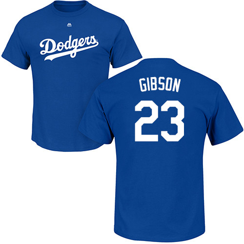 MLB Nike Los Angeles Dodgers #23 Kirk Gibson Royal Blue Name & Number T-Shirt