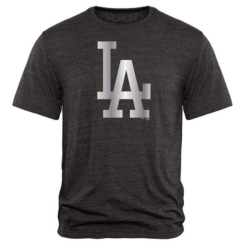 MLB L.A. Dodgers Fanatics Apparel Platinum Collection Tri-Blend T-Shirt - Black