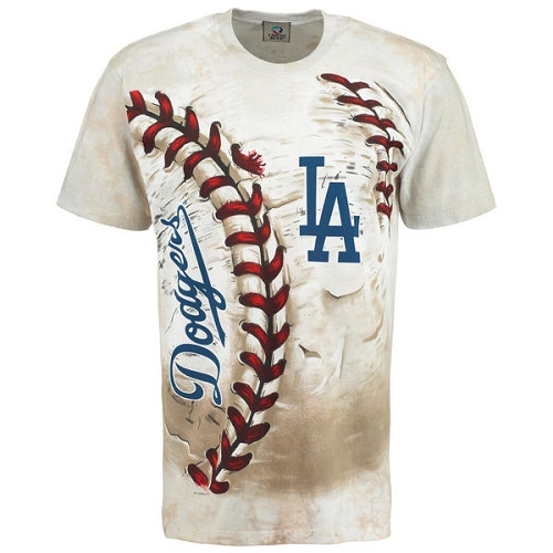 MLB Los Angeles Dodgers Hardball Tie-Dye T-Shirt - Cream